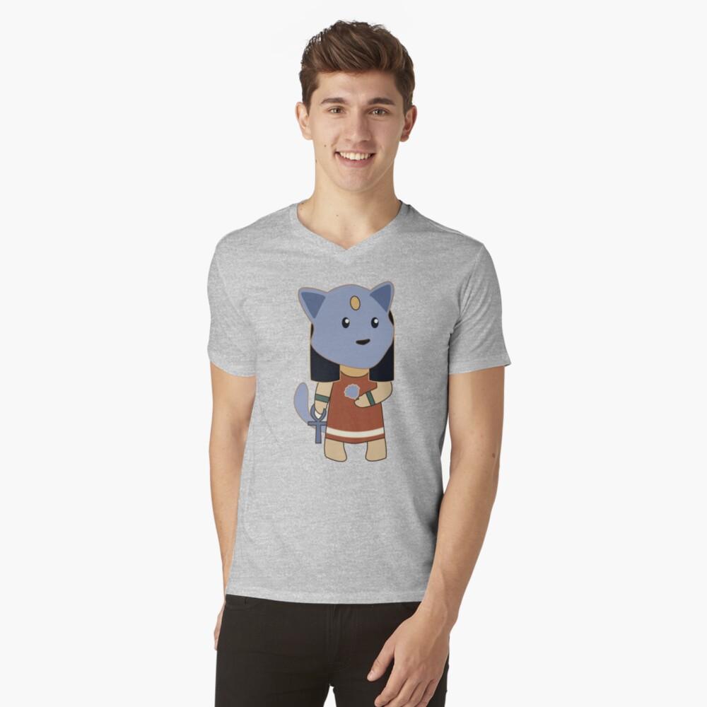 Tiny Bastet V-Neck T-Shirt