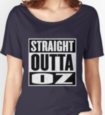 Straight Outta Oz - Dorothy & Toto in the Hood - Movie Mashup - Not in Kansas Anymore Women's Relaxed Fit T-Shirt