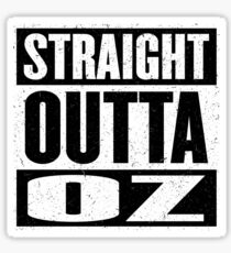 Straight Outta Oz - Dorothy & Toto in the Hood - Movie Mashup - Not in Kansas Anymore Sticker