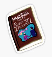 """""""handbook for the recently deceased"""" Beetlejuice Sticker"""