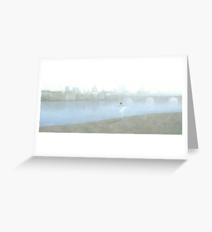 Ballerina on the Thames Greeting Card