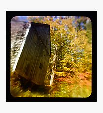TTV- the old barn through morning light Photographic Print
