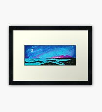 Moon Light Over Rum And Sanna Bay, Ardnamurchan Peninsula.40 Framed Print