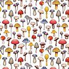 Cute Mushroom Pattern by somecallmebeth