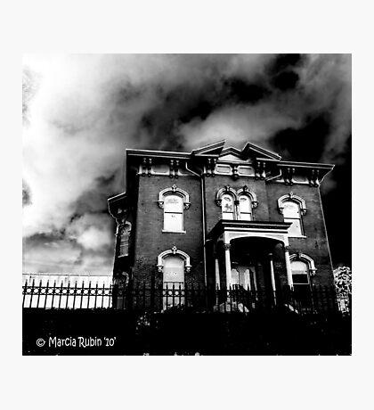 Creepy Abandoned House Photographic Print