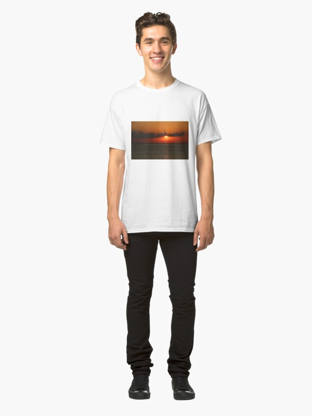 Alternate view of Front Seat to a Lake Ontario Sunset Classic T-Shirt