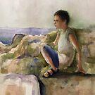 A young boy near the sea. by MrLone