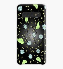 Blue Blooms Case/Skin for Samsung Galaxy