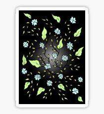 Blue Blooms Glossy Sticker