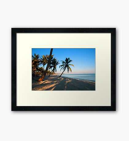 Evening Light at Smather's Beach in Key West FL Framed Print