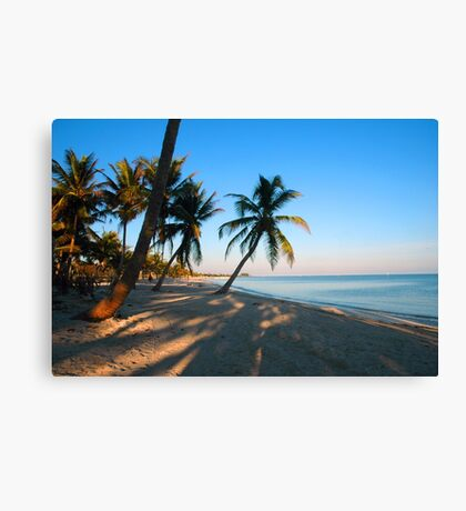 Evening Light at Smather's Beach in Key West FL Canvas Print
