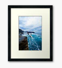 Mike Brennan Ledge Jump Shipstern Bluff Framed Print