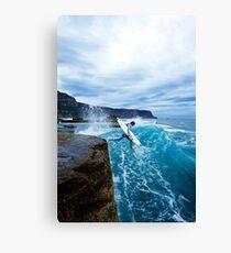 Mike Brennan Ledge Jump Shipstern Bluff Canvas Print