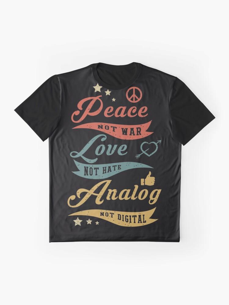 Alternate view of Analog Not Digital Graphic T-Shirt