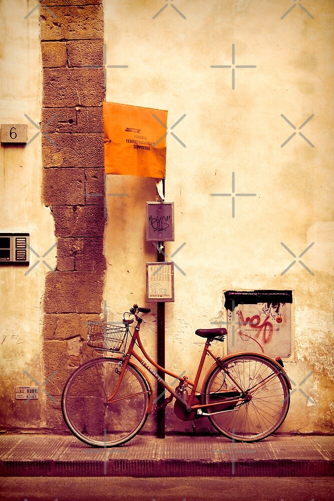 Bicycle red by Andre Gascoigne