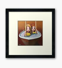 The trouble with water ll Framed Print