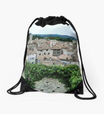 Overlooking Viviers, France Drawstring Bag