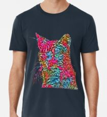 Artificial neural style Rose wild cat Premium T-Shirt