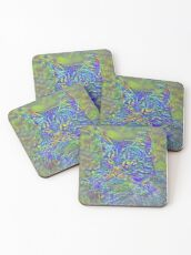 Artificial neural style Post-Impressionism cat Coasters