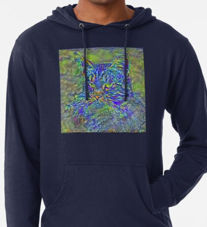 Artificial neural style Post-Impressionism cat Lightweight Hoodie