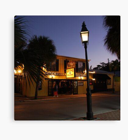Captain Tony 's Saloon in Key West, FL Canvas Print