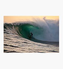 Sandy Ryan in a massive barrel at Shipstern Bluff in Tasmania Photographic Print