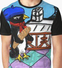 Parisian Penguin Graphic T-Shirt
