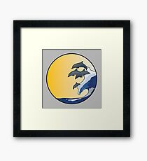 The Wave and Dolphins Framed Print