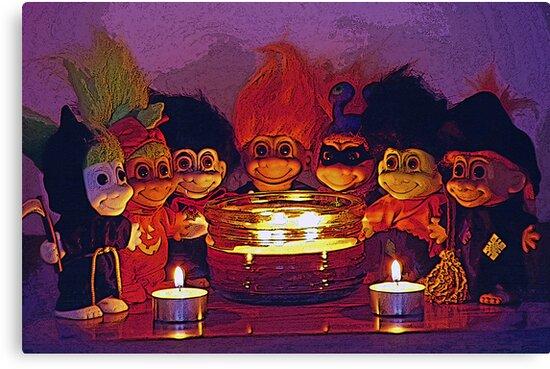 Halloween Trolls Still Life by SteveOhlsen