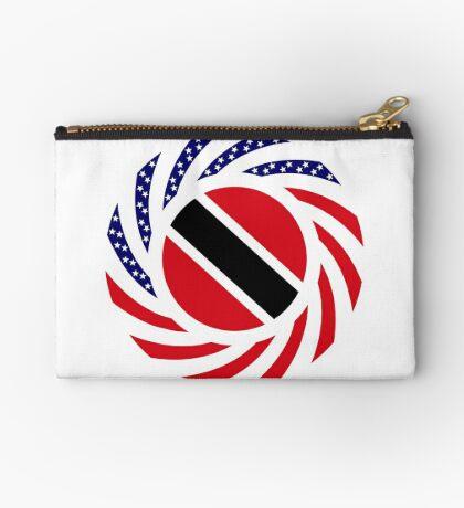 Trinidadian American Multinational Patriot Flag Series Zipper Pouch