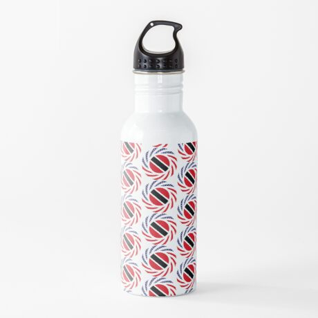 Trinidadian American Multinational Patriot Flag Series Water Bottle