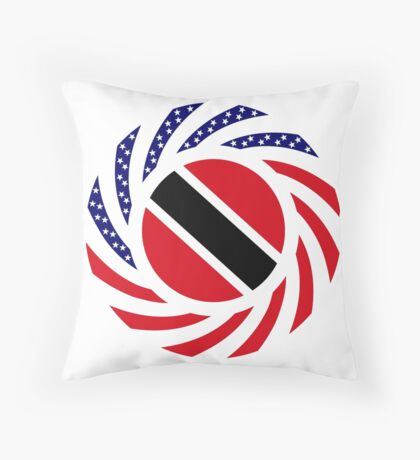 Trinidadian American Multinational Patriot Flag Series Throw Pillow