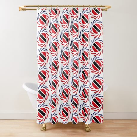 Trinidadian American Multinational Patriot Flag Series Shower Curtain