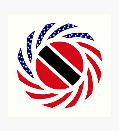 Trinidadian American Multinational Patriot Flag Series Art Print