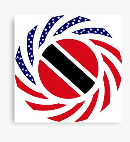 Trinidadian American Multinational Patriot Flag Series Canvas Print