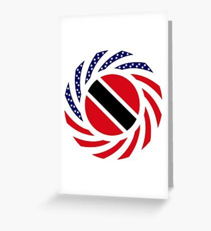 Trinidadian American Multinational Patriot Flag Series Greeting Card