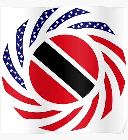 Trinidadian American Multinational Patriot Flag Series Poster