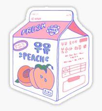 Peach Milk Carton Sticker