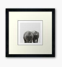 Monochrome - Big buddies Framed Print
