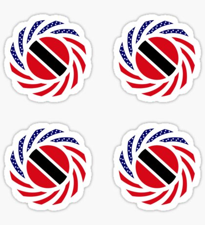 Trinidadian American Multinational Patriot Flag Series Sticker