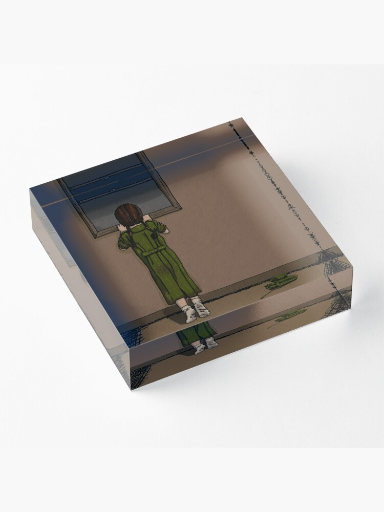 Alternate view of When Will the War Be Over? Acrylic Block