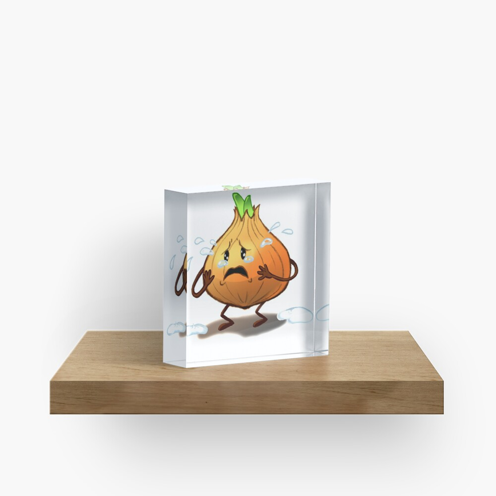 Crying Onion Acrylic Block