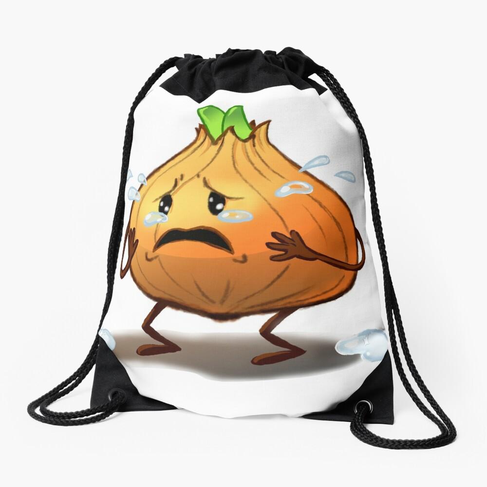 Crying Onion Drawstring Bag