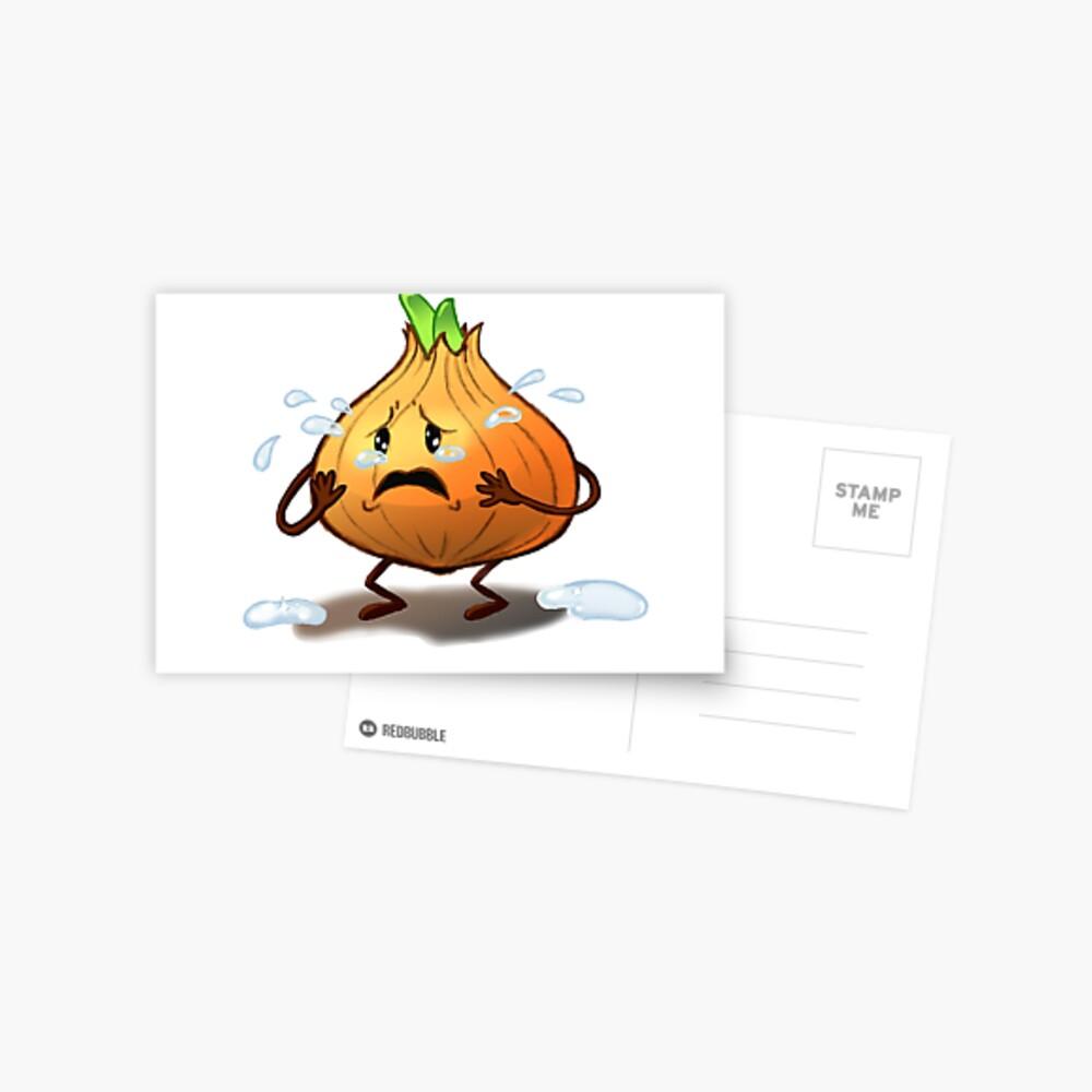 Crying Onion Postcard