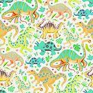 Happy Dinos in Citrus Colors by micklyn