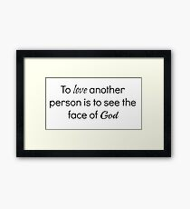 Les Miserables Quote Framed Print
