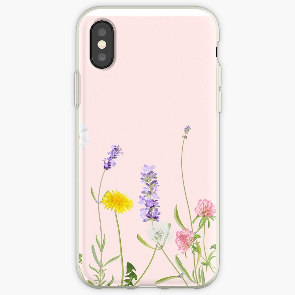 Blush Pink - Wildblumenträume iPhone-Hülle & Cover