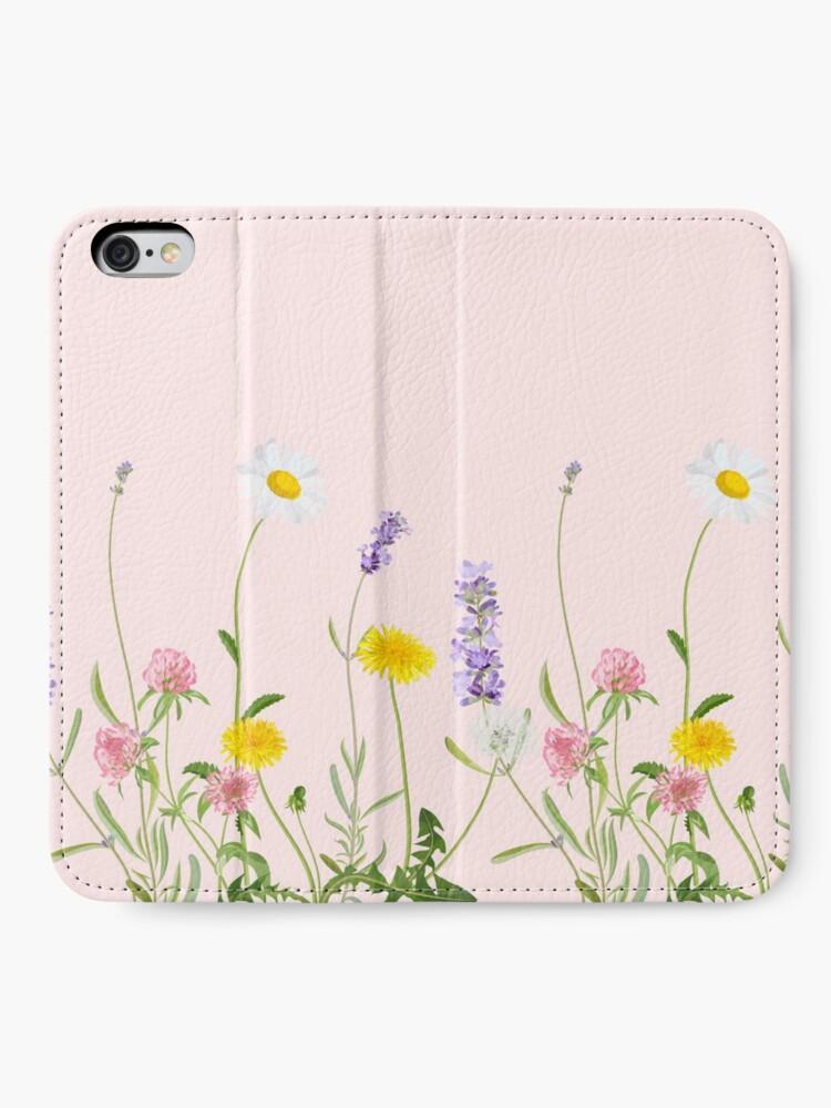 Alternative Ansicht von Blush Pink - Wildblumenträume iPhone Flip-Case