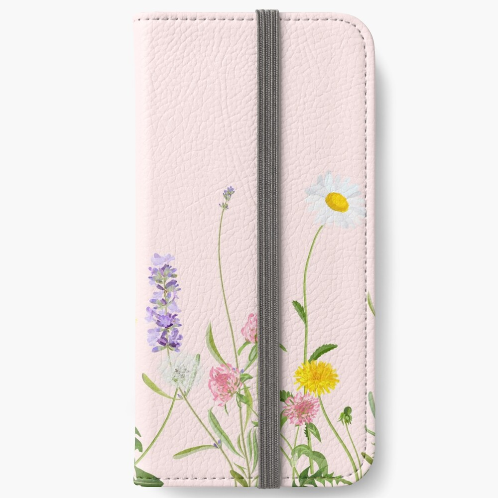 Blush Pink - Wildblumenträume iPhone Flip-Case