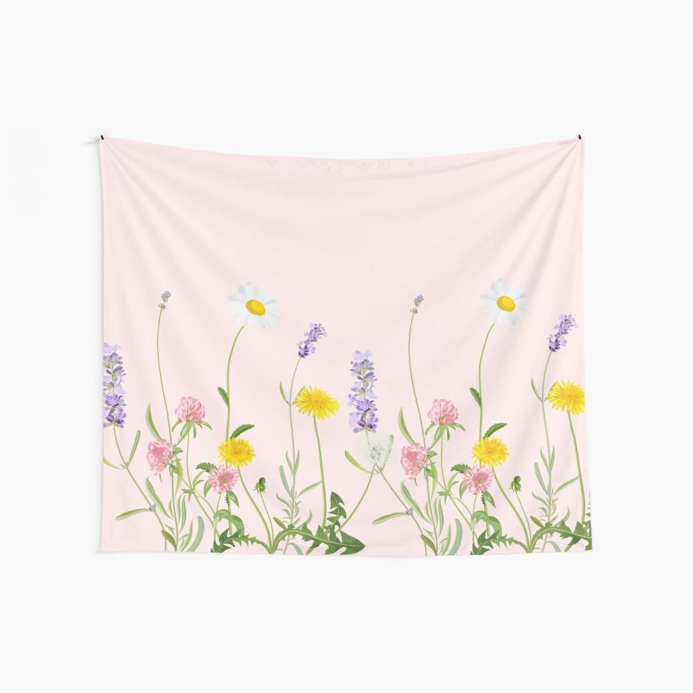 Blush rosa - sueños de flores silvestres Tela decorativa